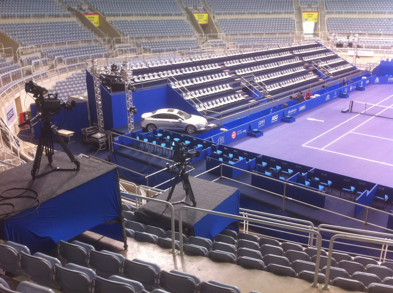 Montagem de Arena Esportiva